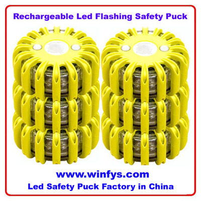 Rechargeable Led Flashing Safety Puck