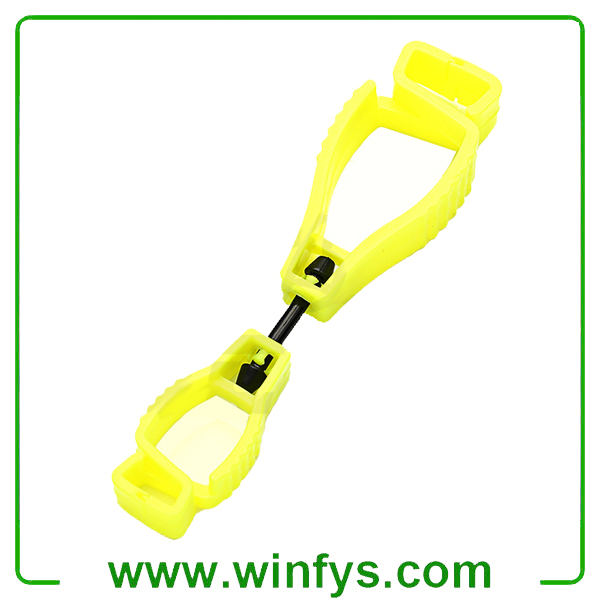 Yellow Glove Hook Plastic Glove Holder Clips POM Glove Clips Glove Guard Clips Glove Grabber Glove Clip Keeper