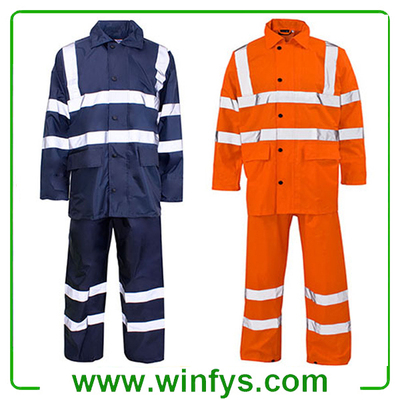HI-VIS Waterproof Reflective Safety Suits