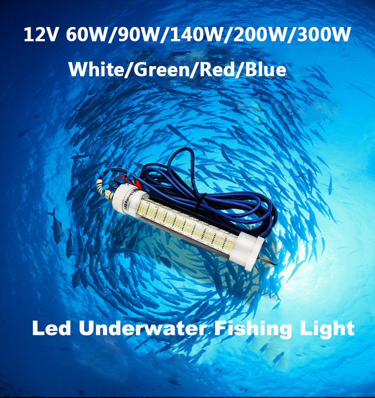 12V LED Underwater Green Fishing Light Stick Submersible Fishing Lights