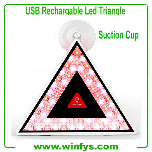 USB Rechargable Flashing Led Safety Triangles