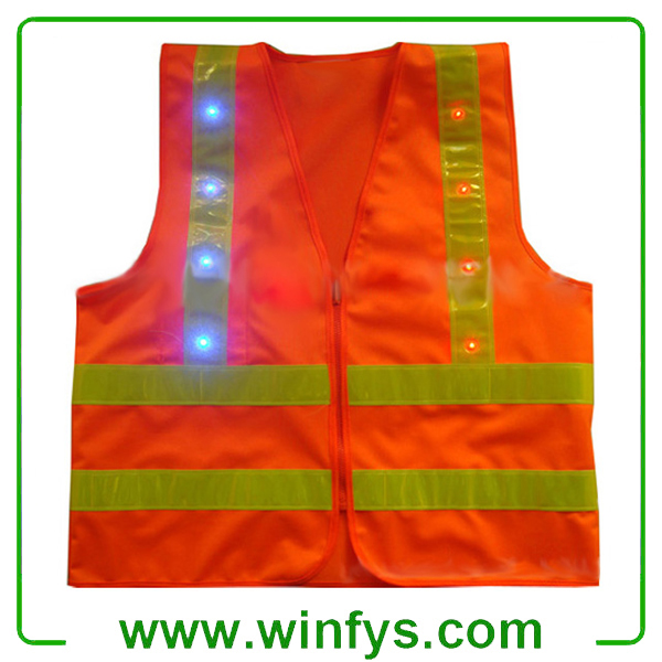 Blue Led Safety Vests Led Safety Clothes Factory
