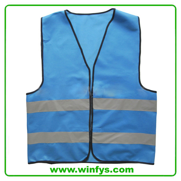 High Visibility Cheap Mesh Blue Safety Vest