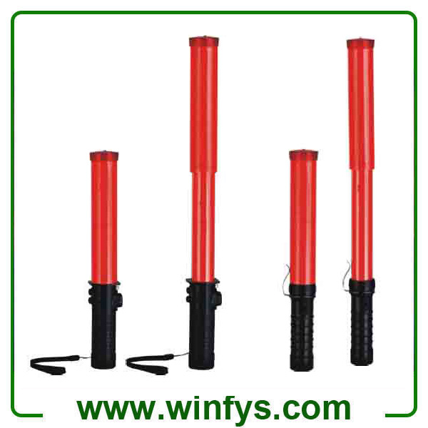 33cm To 50cm Red AAA Battery Retractable Led Traffic Batons Led Traffic Wands