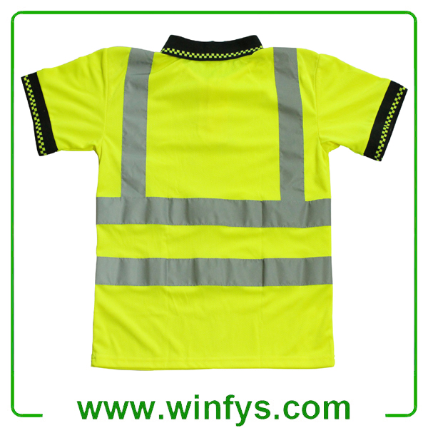 High-Visibility Yellow Reflective Safety T-Shirt