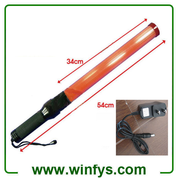 54cm Red Rechargeable Led Traffic Wand Rechargeable Led Traffic Baton