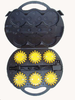 Yellow LED Road Safety Flare Kit
