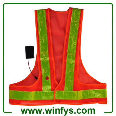 LED Safety Reflective Vest High-Visibility Reflective Led Safety Vest