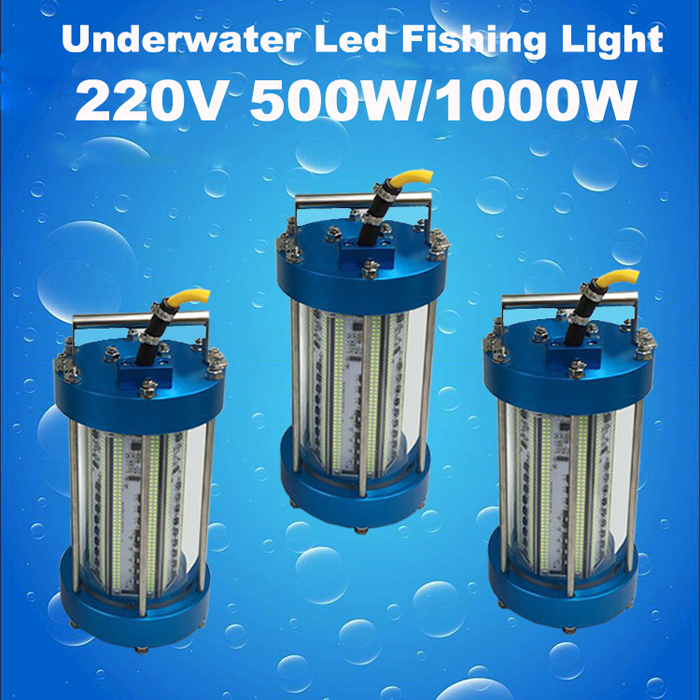 220V LED Underwater Green Fishing Light Stick Submersible Fishing Lights