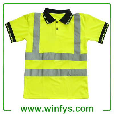 High Visibility Yellow Reflective Safety T-Shirt