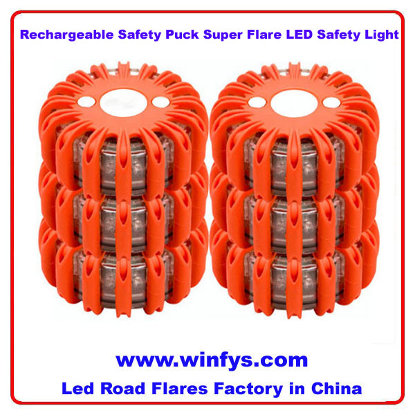 Rechargeable Safety Puck Super Flare LED Safety Light