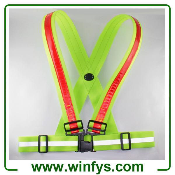 Flashing Led Vests Led Running Vests USB Rechargeable LED Safety Vests