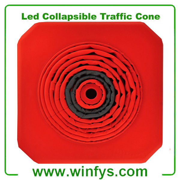 Telescopic Road Cone LED Collapsible Traffic Cone