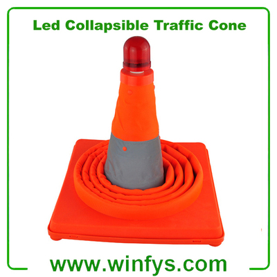 Telescopic Road Cone LED Collapsible Traffic Cone Collapsible Safety Cone