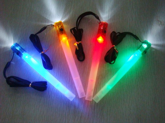 LED Glowstick Flashlight with Whistle