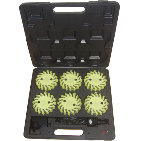 6 packs rechargeable led road flares