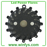 9 In 1 Rechargeable Led Road Flares Black