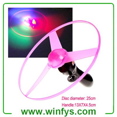 Pull String Led Flying Saucer Led Flying Disc Frisbee