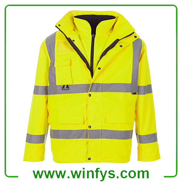 Hi-Vis Reflective Winter Safety Coveralls