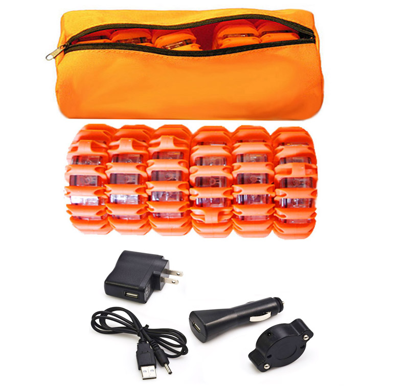 6 Pack Led Road Flares Soft Carry Bag