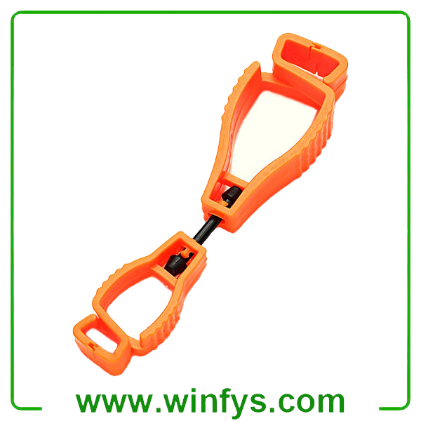 Orange Glove Holder POM Glove Clips Glove Guard Clips Glove Grabber Glove Clip Keeper