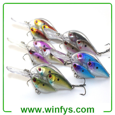 5PCS Fishing Lures Jerkbait Bass Hooks Crankbait Bait Ball