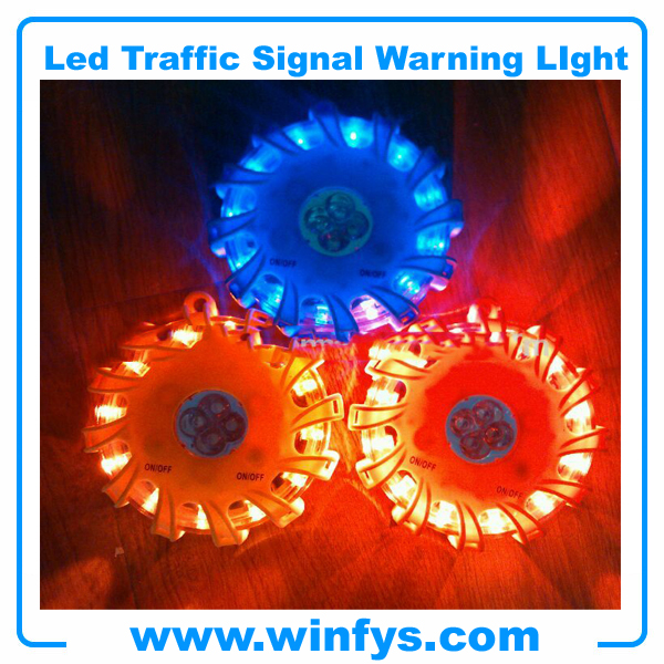 led road flares with flashlight