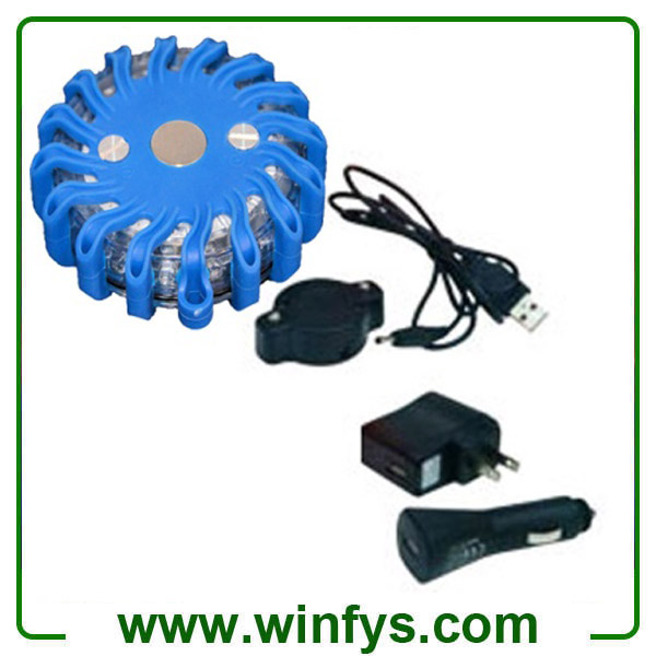 16 Leds Blue Led Flares Rechargeable