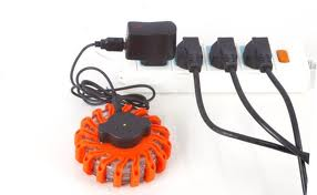 LED emergency flare rechargeable-driven orange BE102
