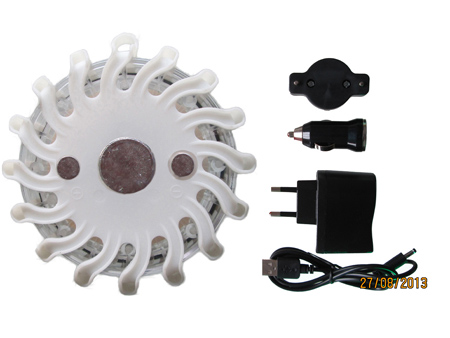 Single Pack Rechargeable White Led Road Flares Kits