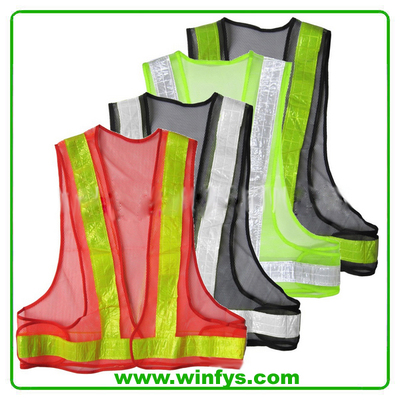 High Visibility Cheap Mesh Black Safety Vest
