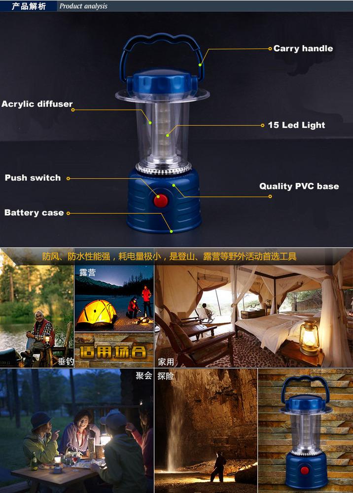 15 LED Camping Lanterns Lights Lamps