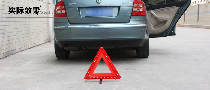 triangle led warning light
