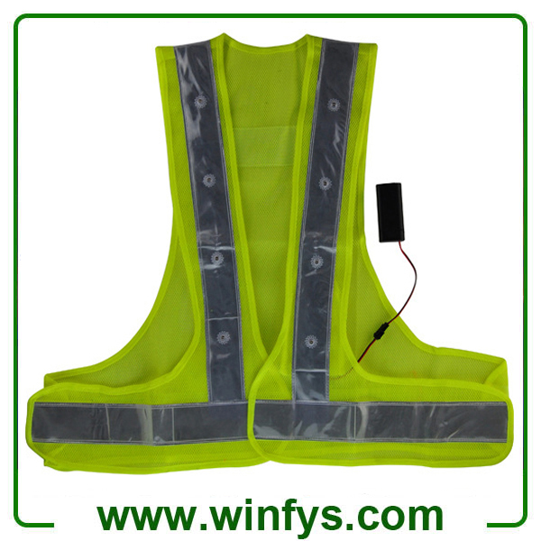 High-Visibility Reflective Led Safety Jacket