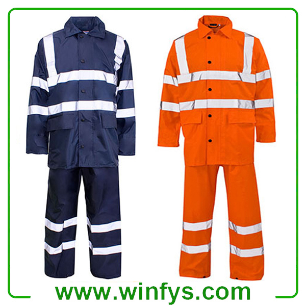 High Visibility Orange Yellow Winter Reflective Safety Clothes