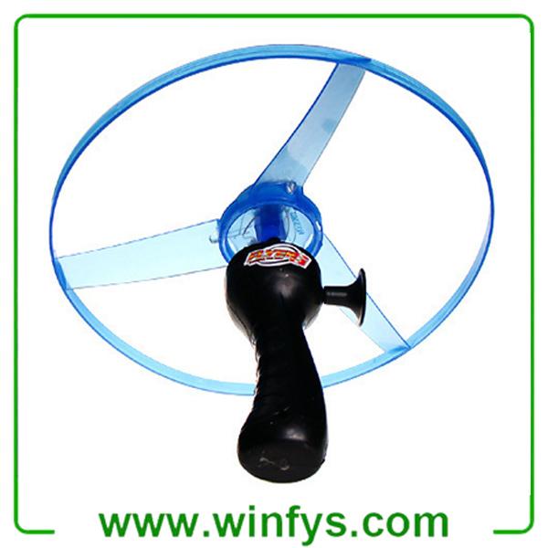 Pull String Led Flying Disc Frisbee