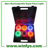 6pcs Rechargeable Super Flare Light