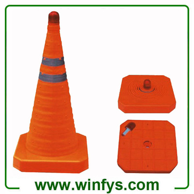 LED Retractable Traffic Cone Foldable Traffic Cone Collapsible Traffic Cone
