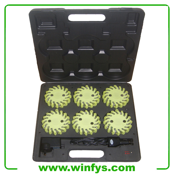 6-Pack Rechargeable Green Led Flares