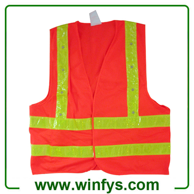Red Blue Lime Green High-Visibility Flashing Led Reflective Apparel