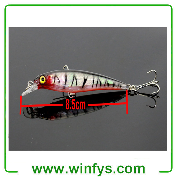Minnow Fishing Lures Bass Crankbait Hooks Tackle Crank Baits