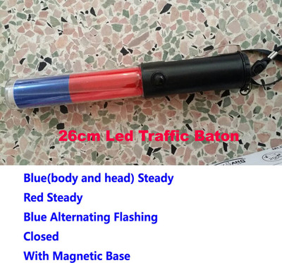 26cm Red Blue Led Traffic Baton