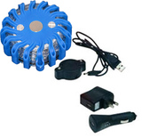 single pack blue rechargeable led power flares