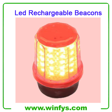 60 Led Red Yellow Blue Led Rechargeable Beacons