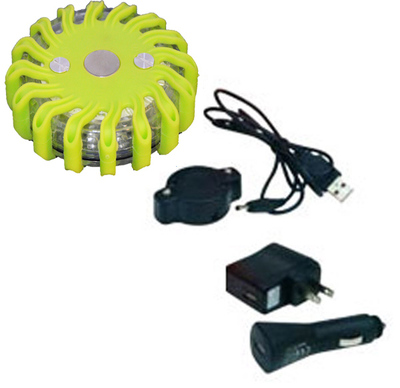 green rechargeable led flares led