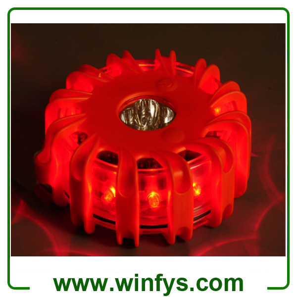 Magnetic LED Road Flares With Flashlights