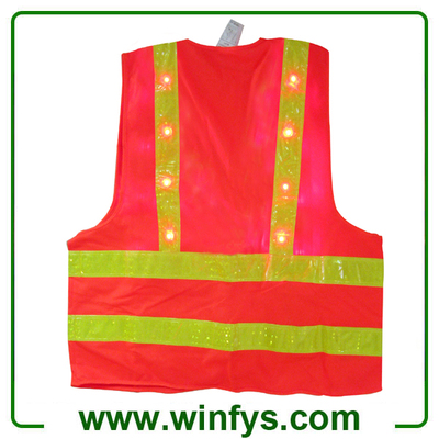 Red Led Safety Vests Led Safety Clothes Factory