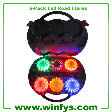 6 Packs LED Safety Flares Rechargeable