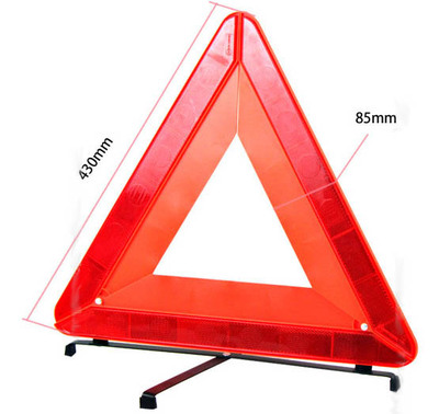 car foldable reflective warning triangle kit