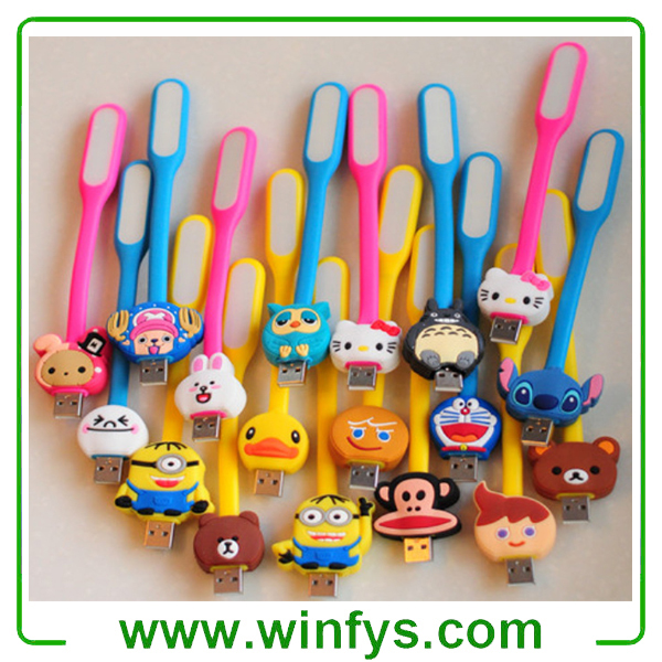 Flexible Mini Led Cartoon USB Book Light USB Book Lamp